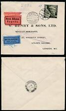 AUSTRIA 1938 EXPRESS AIRMAIL PMK + RAILWAY VIADUCT 2s SINGLE FRANKING + LONDON X