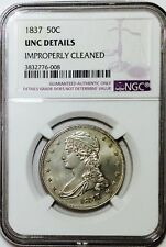 1837 Half Dollar Reeded Edge NGC UNC Details - Beautiful Coin