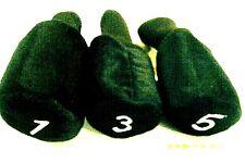New , 3 Pc. Set Of Black Head Covers, 1, 3 & 5 , Very Nice