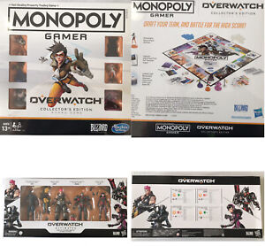 Overwatch Monopoly And Ultimates Carbon Figure Collectors Bundle Including Post