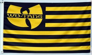 Wu-Tang Clan Nation Rap Music Black Yellow Banner American 3X5FT Flag US Seller