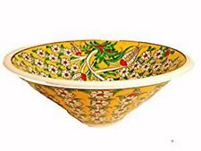 "Handmade Turkish Traditional 8.5"" Ceramic Bowls Deep V-Shaped"