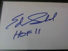 Ed Sabol Inscribed Autograph on Index Card JSA COA