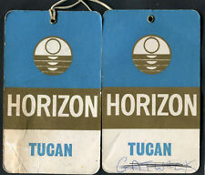 C1970s Pair of Horizon Holidays/Airline Baggage Tags