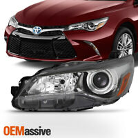 Fits 2015-2017 Toyota Camry SE/XSE Driver Left Side [Black] Projector Headlight