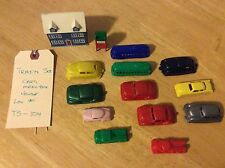 LOT OF 14 - RAILROAD TRAIN SET - Trolly, Cars, Truck, House, & Metal Mailbox