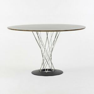 Isamu Noguchi Cyclone Table by Modernica 48 in round black top, newly refinished