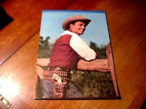 VINTAGE 1950;S ROY ROGERS WRITING TABLE ( NEAR MINT ) 7 X 10 // SUPER NICE