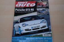 1) Sport Auto 03/2004 - Seat Ibiza FR mit 150PS im - Mercedes C 55 AMG W203 mit