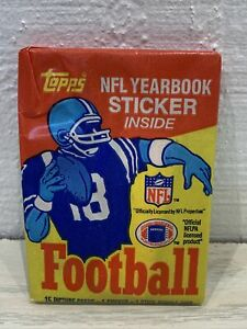 1985 Topps NFL Yearbook Wax Pack 15 Cards 1 Sticker 1 Gum NEW + Free Shipping