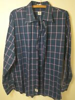 Peter Millar Mens Blue Pink Check Long Sleeve Casual Button Down Shirt Size L