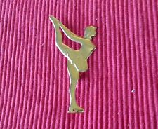 skater brooch,stamped 925 solid silver. Solid silver (poss.gold plated ?) Female