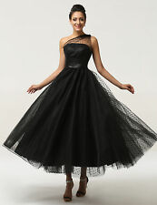 NEW Vintage Style 50's Long Prom Wedding FORMAL Ball Gown Evening Cocktail Dress