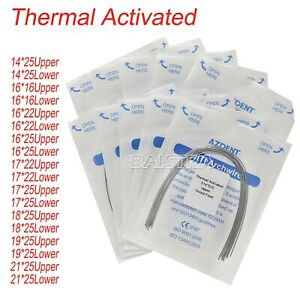 50X Dental Orthodontic Niti Thermal Activated Rectangular Arch Wires Ovoid Form