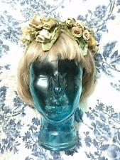 New listing Vintage Velvet Flowered Hat 1940's Bridal/Wedding Gorgeous
