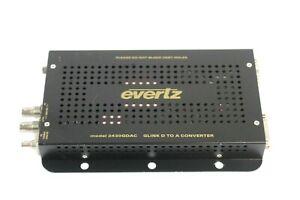 Evertz 2430GDAC GLink D to A Converter, FC Fiber Connector