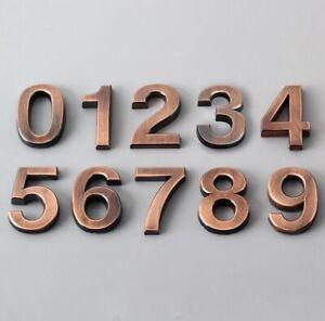 Self Adhesive DIY Home Decor 0-9 Digital Stickers Apartment Door Number Sign