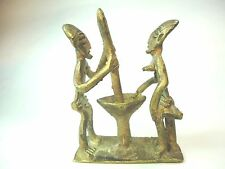 Folks art Figurine Ashanti Style  Brass tribal small sculpture Man & woman.