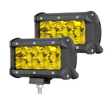 "2x 5"" Led Work Light Offroad Pod Lights Amber Driving Fog Cube Lamps Offroad 12V"