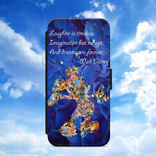 MICKEY MOUSE/DISNEY/DREAMS/QUOTE/FLIP WALLET PHONE CASE COVER FOR IPHONE/SAMSUNG