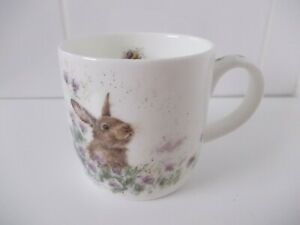 Wrendale Designs Royal Worcester THE MEADOW Rabbit Mug by Hannah Dale