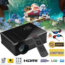FULL HD LED 5000 lumens 1080P 3D proiettore  VIDEO PROJECTOR USB/HDMI/AV/VGA/ATV