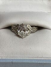 Dress Ring N 1/2. 925 Silver and Cubic Zirconia