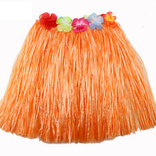 Ladies Women Hawaii Fancy Dress Grass Skirt Hula Hawaiian Full Charming DSUK