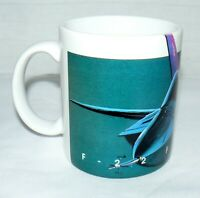 F-22 FIGHTER RAPTOR MILITARY PORCELAIN 9 oz COFFEE MUG MADE IN THAILAND CUP