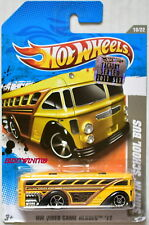 Hot Wheels 2011 Hw Video Game Heroes Surfin' Chool Bus Yellow Factory Sealed W+