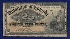 More details for canada, 1900 25 cents banknote (ref. b1143)