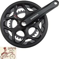 SHIMANO TOURNEY A070 170MM--34/50T 7/8-SPEED SQUARE BICYCLE CRANK W/ CHAINGUARD