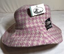 San Diego Hat Company Pink Hounds Tooth Bucket Hat, New with Tags, 57 cm