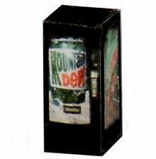 N Scale Lighted Mountain Dew Vending Machine 1/160 Illuminated