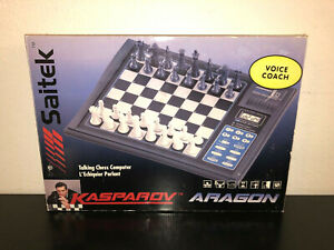 Saitek Kasparov Aragon Electronic Talking Chess Computer Voice Coach K14V - NEW