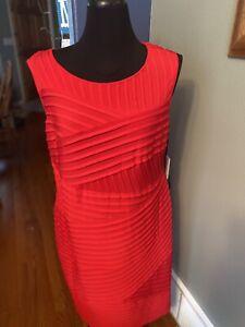 Calvin Klein Woman 18W Sleeveless Red Short Dress