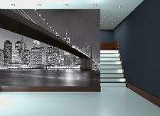 New York Wall Mural photo wallpaper 366x254cm Cityscape Manhattan Skyline B&W