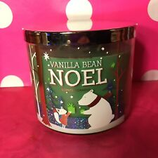 Bath & Body Works Holiday Home Vanilla Bean Noel 3-Wick Scented Candle NEW