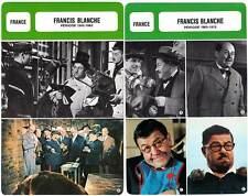 FICHE CINEMA x2 : FRANCIS BLANCHE de 1942 à 1975 France(Biographie/Filmographie)