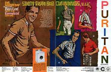 Bob Peak Puritan Sportswear BOB CUMMINGS SHOW Large 2-Page Print Ad 1960