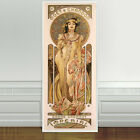"Stunning Alphonse Mucha Moet Champagne Imperial CANVAS PRINT 24""X10"" Art Nouveau"