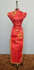 Red Qipao For Fashion Royalty and Silkstone