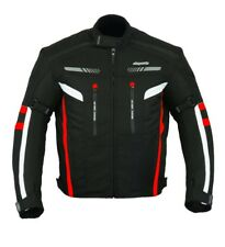 RKSports 1637 MENS RED WATERPROOF TEXTILE MOTORBIKE MOTORCYCLE JACKET CE ARMOUR