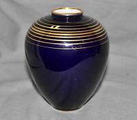 kleine Vase Lindner, Küps, Kobalt Gold