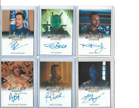 Star Trek Discovery - Autograph & Costume Relic Card Selection NM  Rittenhouse