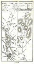 Antica Mappa, strada da Cork a Tralee e di Killarney (1)