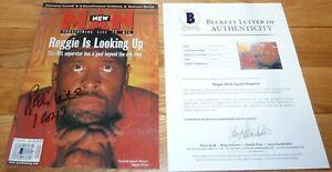 BECKETT REGGIE WHITE GREEN BAY PACKERS SIGNED 1997 NEW MAN MAGAZINE FULL ISSUE 6