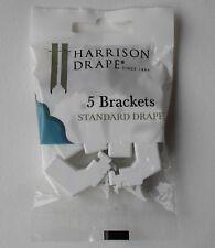 Harrison Drape Standard Drape Curtain Track Plastic Brackets & Screws Pack 5