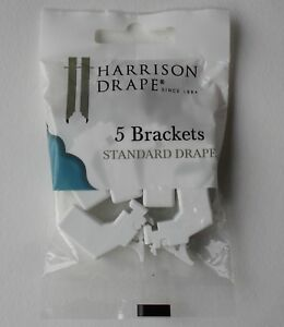 Harrison Drape Standard Drape Curtain Track Plastic Brackets & Screws Pack 5