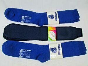 Vintage Lot of 3 Mixed Lot Thermal Wool/Nylon Skiing Socks Size 9-15 NWT